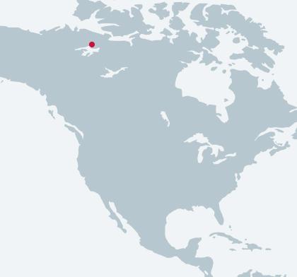 Diavik Diamond Mine Power Station 2 location map